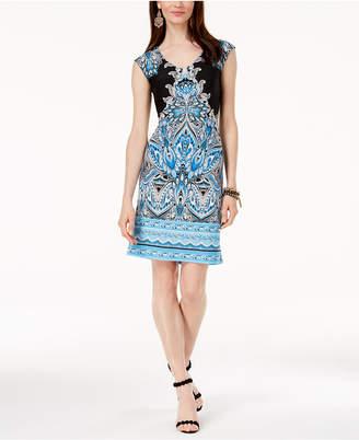 INC International Concepts I.N.C. Printed Sheath Dress, Created for Macy's