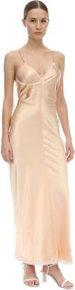 Alexander Wang SATIN LACED MIDI DRESS
