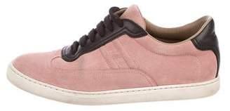 Hermes Suede H Sneakers
