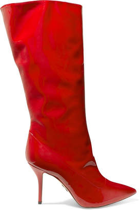 Paul Andrew Ciondolare Patent-leather Knee Boots - Red