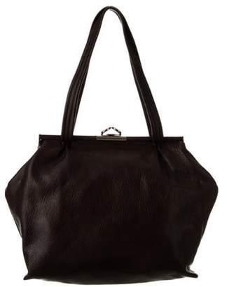 Marni Leather Frame Bag Brown Leather Frame Bag