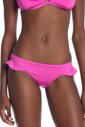 Trina Turk Key Solid Ruffle Bikini Bottoms