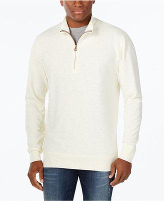 Weatherproof Vintage Men's Quarter-Zip Pullover, Classic Fit $69.50 thestylecure.com