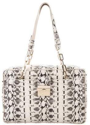 Versace Animal Print Embossed Leather Shoulder Bag w/ Tags