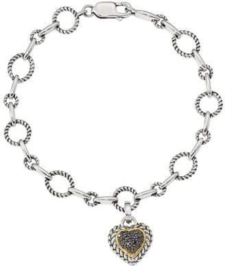 Black Diamond Affinity Diamond Jewelry Affinity 1/4 cttw Bracelet,Sterling & 14K