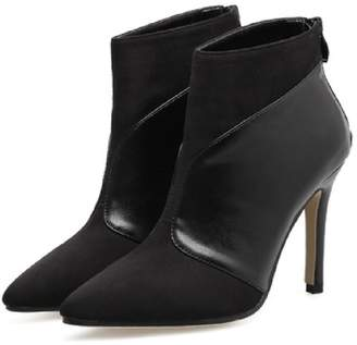 Goodnight Macaroon 'Laken' Faux Suede Leather Pointed Toe Heeled Boots