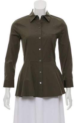 Theory Peplum Button-Up Top w/ Tags
