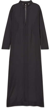 SU Paris - Gandu Cotton And Silk-blend Voile Kaftan - Black