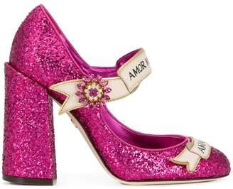 Dolce & Gabbana slogan embellished pumps