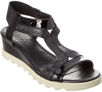 The Flexx Give A Hoot Leather Wedge Sandal