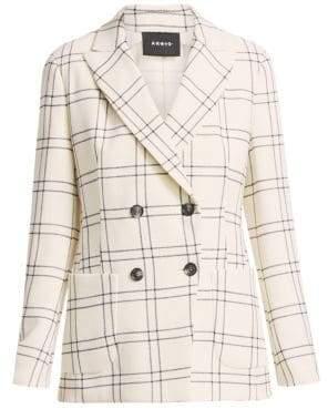 Akris Danita Wool Crepe Double-Breasted Jacket