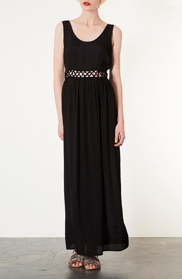 Topshop Knotted Waist Maxi Dress
