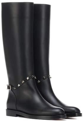 Valentino Rockstud leather boots