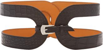 Maison Vaincourt M'O Exclusive: Cage Crocodile Waist Belt