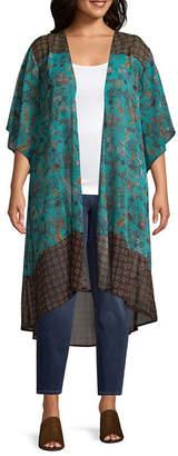 Self Esteem Short Sleeve Kimono-Juniors Plus