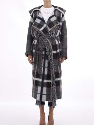 Stella McCartney Grey Coat With Fringed