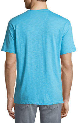 Robert Graham Men's Albie V-Neck Short-Sleeve Cotton Knit T-Shirt