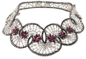 Stefan Hafner Boudoir Macramé Diamond & Ruby Necklace