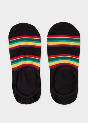 Paul Smith Men's Black Colour-Block Stripe Loafer Socks