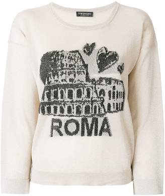 Twin-Set Roma embroidered sweater
