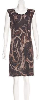 Lanvin Silk-Accented Printed Dress