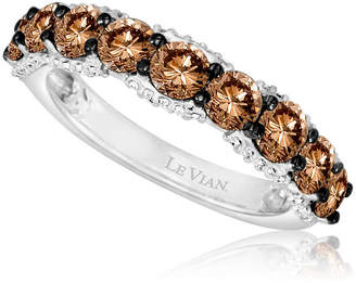 LeVian CORP Grand Sample Sale by Le Vian 1 3/4 CT. T.W of Chocolate Diamonds & Vanilla Diamonds in 14k Vanilla Gold Chocolatier Ring