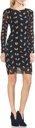 Vince Camuto Paisley Estate Mesh Body-Con Dress