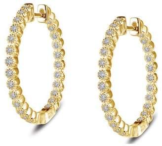 Lafonn 18K Gold Plated Sterling Silver 25mm Hoop Earrings