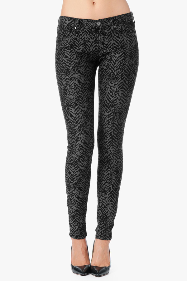 7 For All Mankind The Skinny In Black Chevron