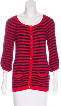 Juicy Couture Cashmere-Blend Striped Cardigan