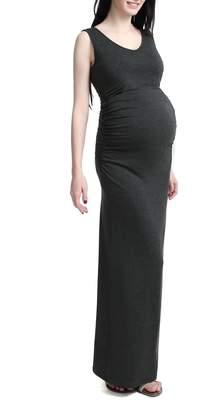 Kimi and Kai 'Jane' V-Neck Maternity Maxi Dress
