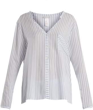 Hanro Striped patch-pocket shirt