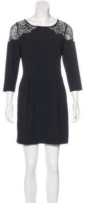 Sandro Lace-Trimmed Mini Dress $75 thestylecure.com
