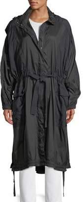 Vince Hooded Zip-Front Raincoat