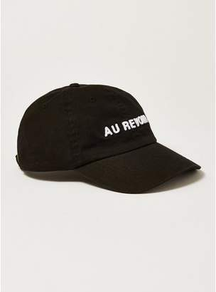 Topman Mens Black 'Au Revior' Cap