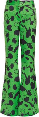 Rejina Pyo Ashley Floral Print Green Satin Pants