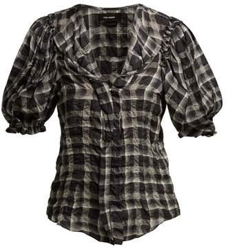 Isabel Marant Abies Puff Sleeve Organza Blouse - Womens - Black