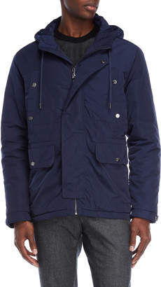 Versace Navy Hooded Coat
