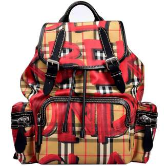Burberry Vintage Check Graffiti Backpack