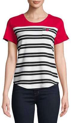 Karen Scott Petite Short-Sleeve Kat Stripe Tee
