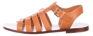 Mansur Gavriel Leather Ankle Strap Sandals