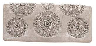 Tory Burch Embellished Suede Clutch