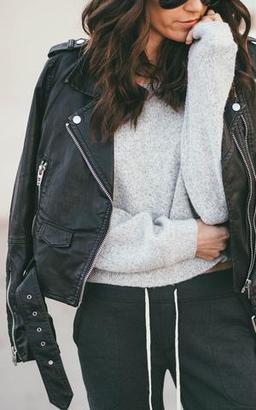 Ily Couture Black Vegan Leather Jacket