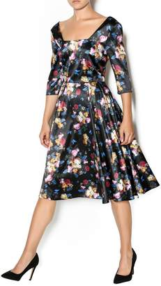 Voodoo Vixen Old Master Floral Dress