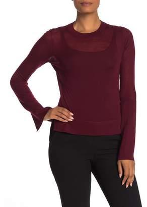 Theory Opaque Merino Wool Long Sleeve Top