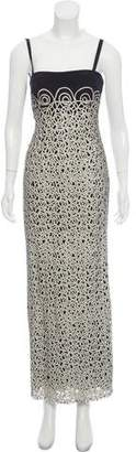 Akris Patterned Strapless Midi Dress