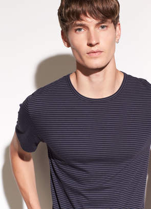 Vince Striped Cotton T-shirt