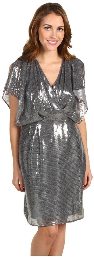 Jessica Simpson Mesh Sequin Dress (Grey) - Apparel
