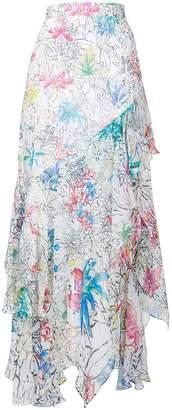 Peter Pilotto floral print ruffled skirt
