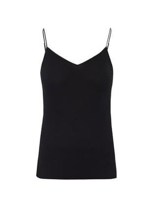 Hanro Seamless V Neck Tank Top - Womens - Black